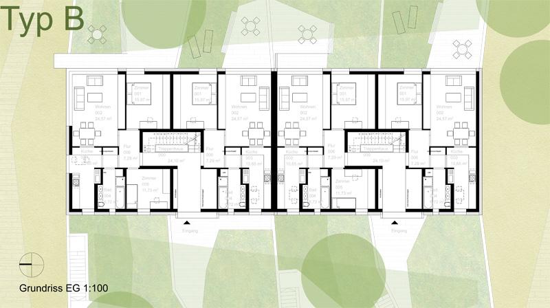 junk reich architekten bda planungsgesellschaft mbh neubau einer wohnanlage in jena. Black Bedroom Furniture Sets. Home Design Ideas